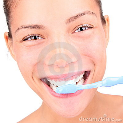 Toothbrushing woman