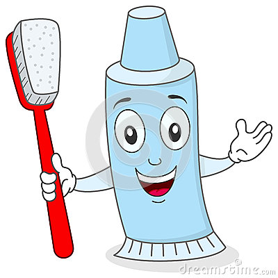 Toothpaste with Toothbrush Character