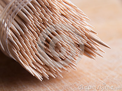 Toothpicks in a container