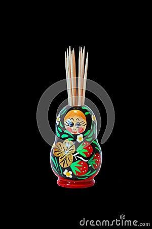 Toothpicks in Decorative Pot