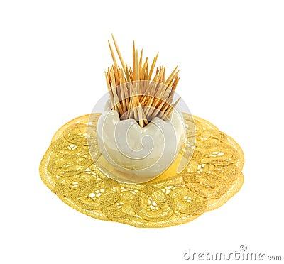 Toothpicks Tiny Glass Vase