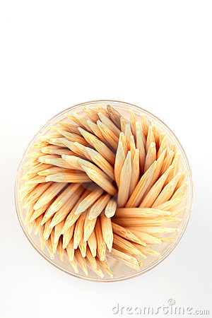 Free Toothpicks - Top View Royalty Free Stock Image - 12795086