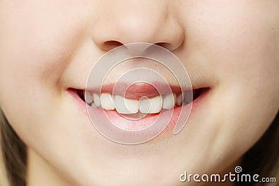 Toothy glimlach - lippen en tanden
