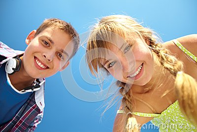 Toothy glimlachen
