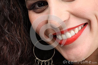 Toothy härligt leende