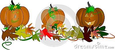 Toothy pompoenen voor Halloween