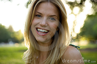 Toothy Smile Blonde Girl