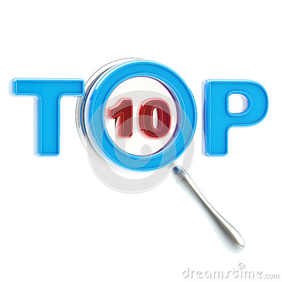 Top-10 under the magnifier isolated