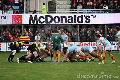 Top 14 rugby match USAP vs Albi Editorial Image