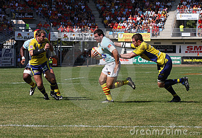 Top 14 rugby match USAP vs ASM Editorial Photo