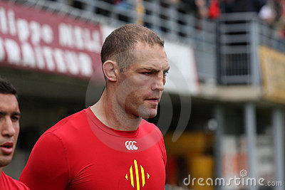 Top 14 rugby match USAP vs ASM Clermont Auve Editorial Stock Photo
