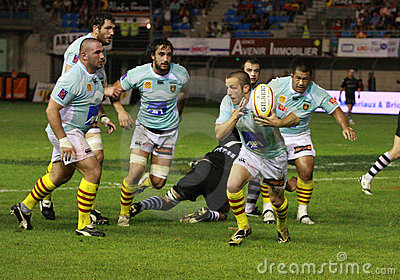 Top 14 rugby match USAP vs CA Brive Editorial Stock Photo