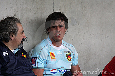 Top 14 rugby match USAP vs Montpellier Editorial Photo