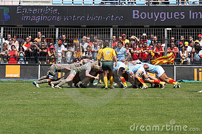Top 14 rugby match USAP vs Stade Francais Editorial Stock Image