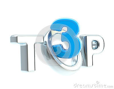 Top-3 emblem symbol isolated