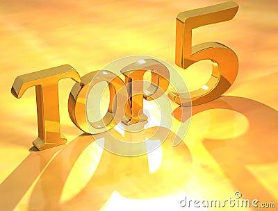 Top 5 Gold Text