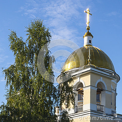 The top of Alexander Nevsky Cathedral