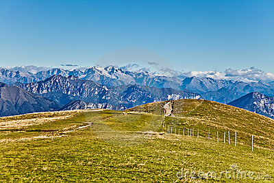 At the top of the Alps