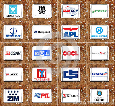 Free Top Biggest Container Shipping Companies Logos And Vector Royalty Free Stock Photography - 65618577