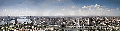 Top of Cairo City from tv tower