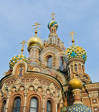 Top church of onion domes