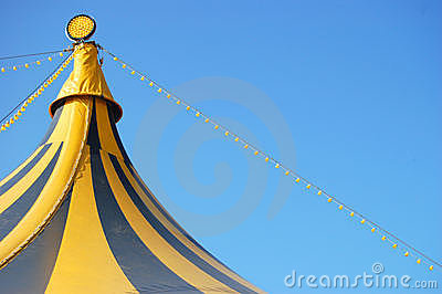 Top of a circus tent