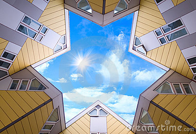 Top of the cubic houses in Rotterdam
