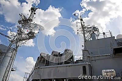 Top deck of a battleship
