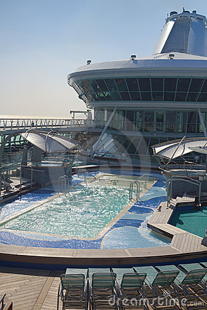 Top deck of cruise ship