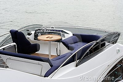 Top deck in yacht