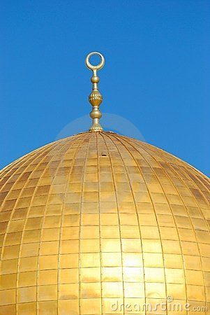 Top of dome of the rock, masjid Qubbat As-Sakhrah