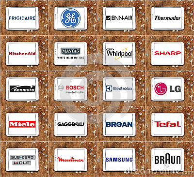 Top Famous Kitchen Appliance Brands And Logos Editorial Image