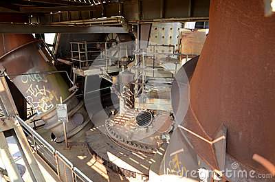 Top of the furnace