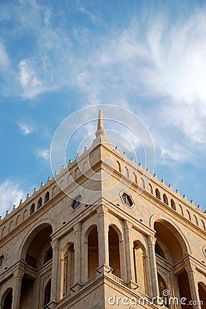 Top of Government House in Baku, Azerbaijan