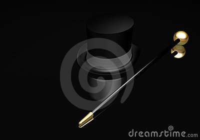 Top hat and cane