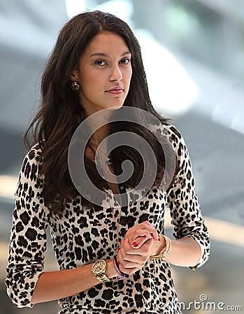 Top Model Rebecca Mir Editorial Image