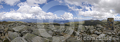 Top of Mount Kosciuszko (2228 m). Australia.