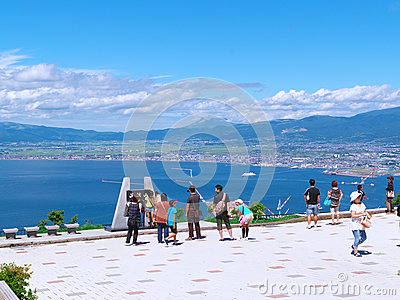 Top of Mt.Hakodate Editorial Image