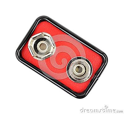 Top of nine volt battery