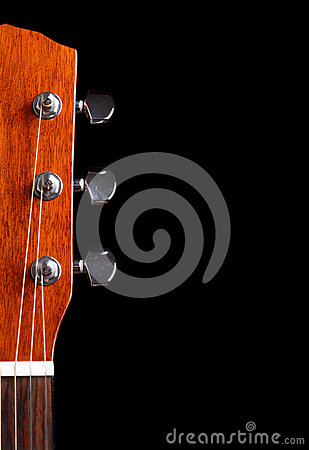 Free Top Of Guitar Neck Over Black Background Stock Photo - 28752160