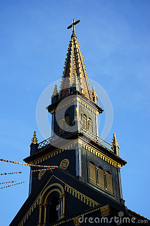 Free Top Of The Wooden Church Royalty Free Stock Photo - 84662165