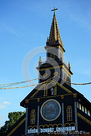 Free Top Of The Wooden Church Royalty Free Stock Photos - 84675948