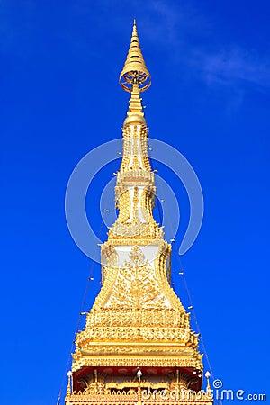 Top pagoda temple relics,nine floor in khon kaen