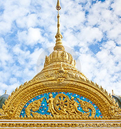 Free Top Part Of Thai Style Architecture Stock Photos - 21324803