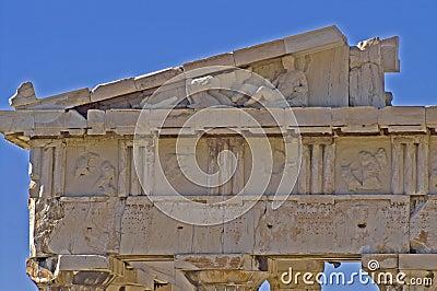 Top part of Parthenon