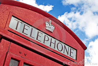 Top of a red London Telephone box