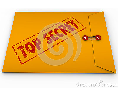 Top Secret Confidential Envelope Secret
