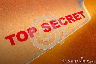 Top Secret Document Stamp in Confidential Folder