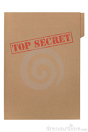 Free Top Secret File Royalty Free Stock Photos - 6268278
