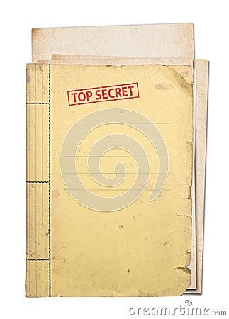 Free Top Secret Folder. Royalty Free Stock Photo - 28807605